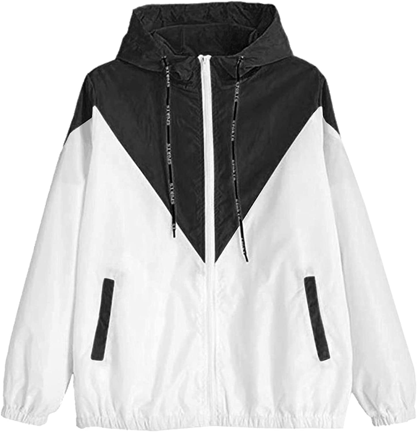 Zip Cheap mail order shopping Up Hoodie Women Hoodies Surprise price For Sleeve Teen Long Girls Patchwork