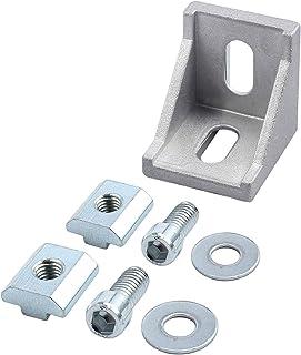 eSynic 10pcs 40x40 Soporte de Esquina Aluminio Escuadra de Ángulo Recto Fijación de Ángulo 40x40 y 40x80 Ranura Puntales d...