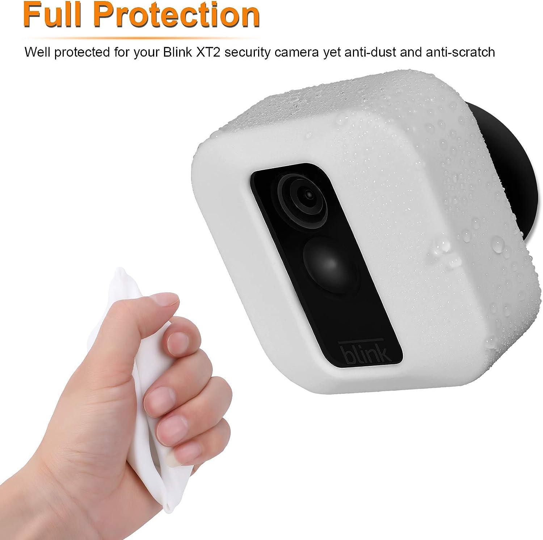Prot/ége Blink XT2 Camera Blanc MWOOT 3 Pi/èces Coques Compatible avec Blink XT2 Cam/éra Protection Housses Anti-Rayures Protection en Silicone