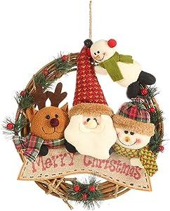 Bulz Guirlandes Couronne de Noël Xmas à l'intérieur et l'extérieur idéal Déco Noël pour magasins,Bureaux,Sapin de Noël ou DIY. Diamètre 29cm (A)