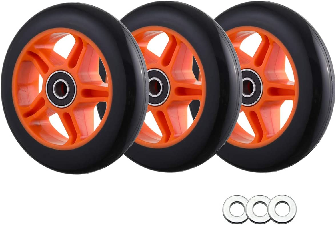 WHEELGOO Polyurethane Replacement Wheels w 3-Pack Comp Gorgeous Spacers Nippon regular agency