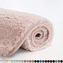 Suchtale Large Bathroom Rug Extra Soft and Absorbent Shaggy Bathroom Mat (24 x 40, Dusty Pink) Machine Washable Microfiber...