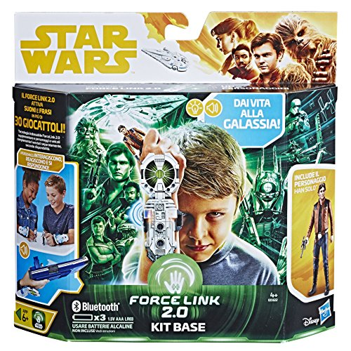 Hasbro Star Wars- Kit Base Starter Set con Han Solo (Force Link 2.0), Multicolor (E0322103)