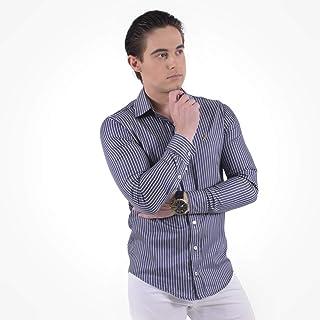 5b55b015c6 Camisa Social Listrada Masculina Slim 100228