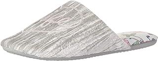 Dearfoams Womens 26032-10022 Closed Toe Scuff with Eye Mask Grey Size: