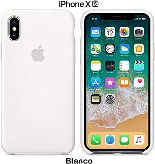 Funda Silicona para iPhone X y XS Silicone Case Calidad, Textura Suave, Forro Interno Microfibra (Blanco)