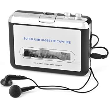 Cassette to MP3 Converter Capture Audio Music Player USB Cassette Tape to PC MP3 CD Switcher Converter Cassette Player Cassette Tape Player with Headphones Plug and Play