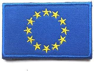ShowPlus European Union EU Flag Military Embroidered Tactical Patch Morale Shoulder Applique