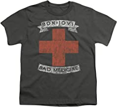 Bon Jovi Bad Medicine New Jersey Album Band Youth T Shirt & Stickers