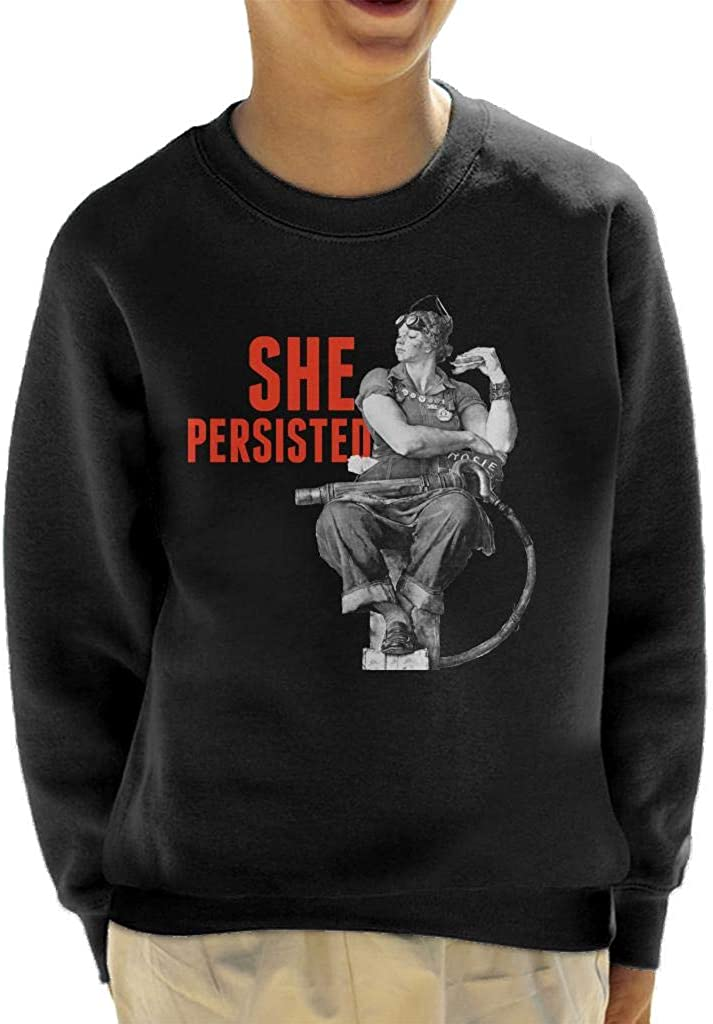 The Saturday Evening Post She Persisted Kid's Sweatshirt