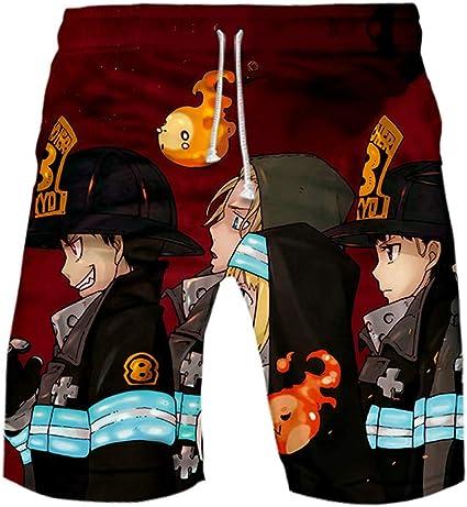 FunStation Anime 3D Printed Hatsune Miku Cosplay Gym Casual Pants Sports Sweatpants Beach Shorts Swim Trunks