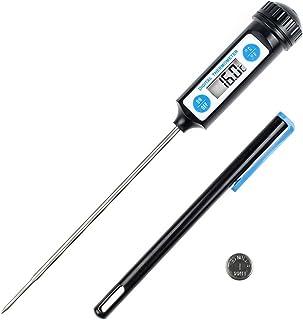 Anpro Termometro Cucina Digitale - Termometri Pentole con Sonda Lunga e Schermo LCD per Alimenti, Carne, Olio, Latte, Vino...
