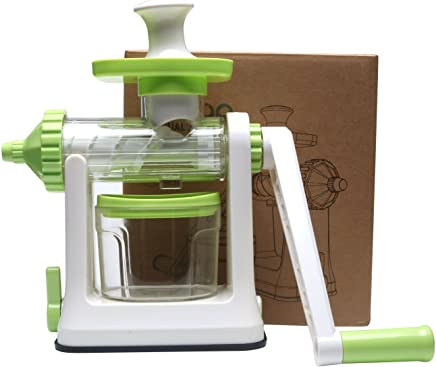 Manual Hand Crank Single Auger Health Juicer,Fruit & Vegetable Juice Extractor Manual Wheatgrass Juicer
