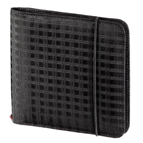 Hama Business Organizer Tasche (zur Aufbewahrung von 24 CDs / DVDs / Blu-Rays, 6 Speicherkartenfächer) schwarz