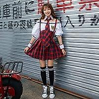 セーラー服 ブレザー 半袖 コスチューム XL レッド [並行輸入品]