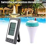 Sunsbell Drahtlose Fernbedienung Floating Thermometer Schwimmbad wasserdichte Whirlpool Teich Spa