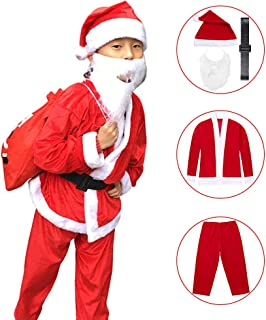 Santa Suit Christmas Party Fancy Dress Cosplay Costume Outfit Santa Claus Costume for Kids