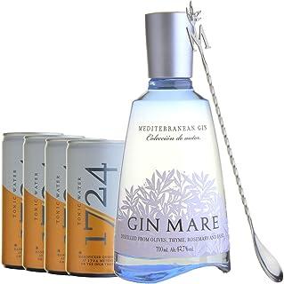 GIN MARE Tonic Set mit Barlöffel Gin Mare 1x700ml 1724 Tonic Water 4x200ml