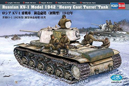 Hobby Boss Russian KV-1 Model 1942 Tank with Heavy Cast Turret Vehicle Model Building Kit