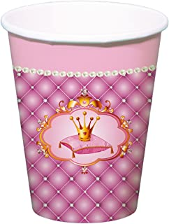 Folat 61951 Princesses Disposable Cups 250 ml-6 Pieces, Multi-Coloured