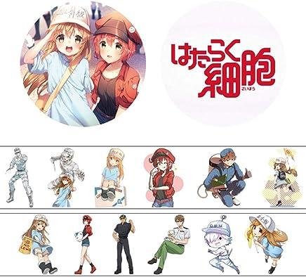 Violet Bleu Tagaremuser Personnages de BD Japonaise Ruban de Masquage Ruban Adh/ésif Papier Ruban D/écoratif Tape 40 mm x 5 m