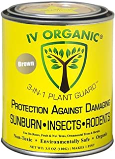 IV Organic 100534573 3-in-1 Plant Guard Brown,