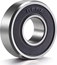 10 Pack R6-2RS Ball Bearings, 3/8''x 7/8''x 9/32'' Double Rubber Sealed Miniature Deep Groove Ball Bearing, R6 - rs