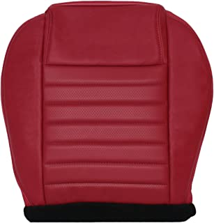 Richmond Auto Upholstery - Driver Side Bottom Replacement Leather Seat Cover, Red (Compatible with 2005-2009 Ford Mustang GT)