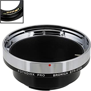 Fotodiox Pro Lens Mount Adapter Compatible with Bronica ETR Mount SLR Lenses to Canon EOS (EF, EF-S) Mount D/SLR Camera Body - with Gen10 Focus Confirmation Chip