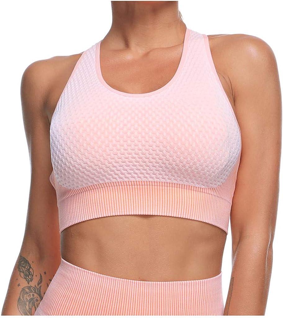 Women Yoga Running Bra Vest Sports Bra Without Steel Hollow Out Sports Underwear Crop Top Vest High Impact Wireless Bra