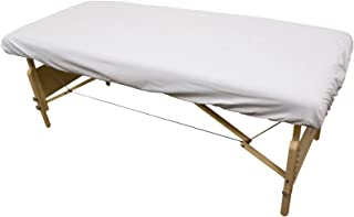 Massage Table Poly/Cotton Fitted Sheet - White