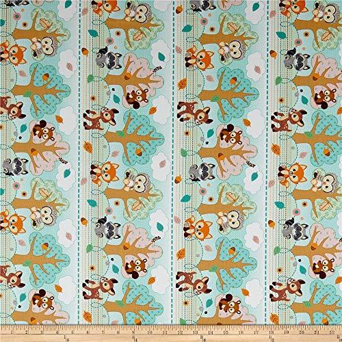 Precious Moments Woodland Baby Boy Digital Print Sage Green, Fabric by the Yard