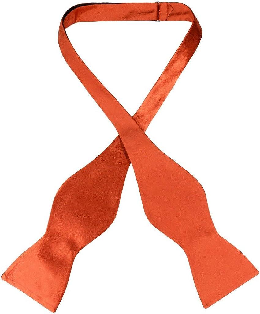 Biagio SELF TIE Bow Tie Solid BURNT ORANGE Color Men's BowTie