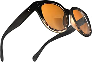 Bifocal Sunglasses for Women Oversized Reading Round Readers Under the Sun