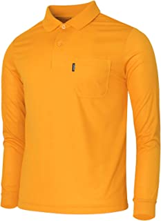 BCPOLO Polo Shirt Athletic Golf Casual Long Sleeves Solid Polo T-Shirt