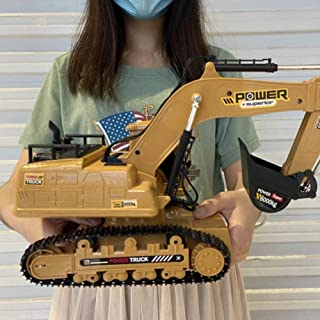 1:20 Scale RC Excavator, 10 Channel RC Excavator Truck with Sounds 2.4Ghz Transmitter for Kids Toys Hobby Gifts