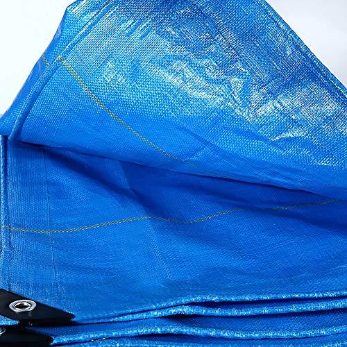 MAGFYLY Grote Camping Tuin Zware Duty Waterdichte PE Tarp Blauw 240g/m2 Premium Polyethyleen Grond Tarp Sheet met Oogjes, Geweldig voor Trailers, Camping Tent, Zwembaden en Patio's Cover Tarps