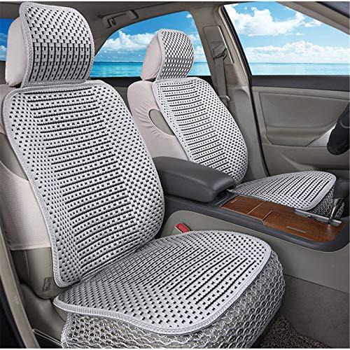 EET Cubierta de Asiento de Coche cómodo Transpirable Seda de Hielo Four Seasons Universal Compatible Airbag,Gris