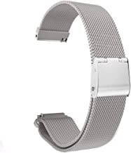 Kartice Compatible with ASUS ZenWatch 3 Band,ZenWatch 3 Stainless Steel Strap with Secure Metal Clasp Buckle for ASUS ZenWatch 3 WI503Q.