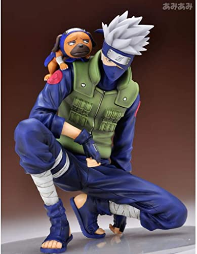 Yxsd Naruto - Drapeau Bois Kakashi Jouet Statue Personnage De Dessin Animé Jouet OrneHommest 16cm