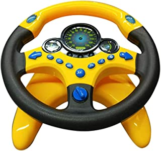 Nuxn Toddlers Steering Wheel Toy Cars Simulated Driving Steering Wheel with Suction Cup Sound Turn and Learn Driver Toy Portable Pretend Play Toy Steering Wheel for Kids