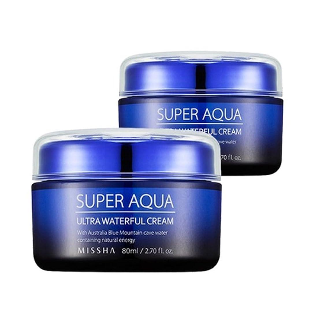 安息等しい概してミシャスーパーアクアウルトラウォトプルクリーム80ml x 2本セット、MISSHA Super Aqua Ultra Waterful Cream 80ml x 2ea Set[並行輸入品]