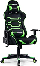 GTPOFFICE Gaming Chair Racing Style Fabric Office Ergonomic Conference Executive Manager Work Chair High Back Adjustable Swivel Computer Desk Task Chair Tilt E-Sports Chair (Green)