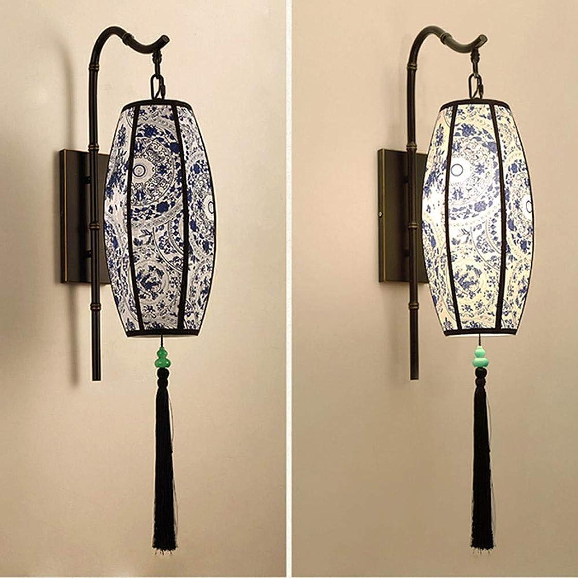 前件職人多様体新中国の壁ランプ、清華磁器の中国風のクリエイティブLEDヘッドウォールランプベッドルーム、バスルーム、ダイニングルーム、リビングルーム、廊下、廊下、階段用 (Color : B)