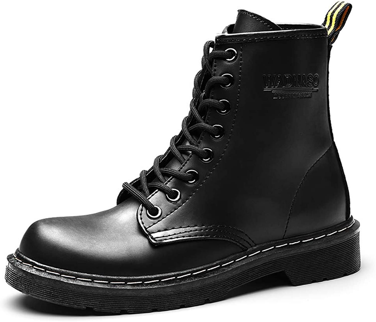 V-DOTE Women Lace Up Low Heel Mid Calf Winter Combat Boots