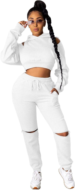 XuFeng Zipper Shoulder Long Sleeve Hooded Cropped Sweatshirt