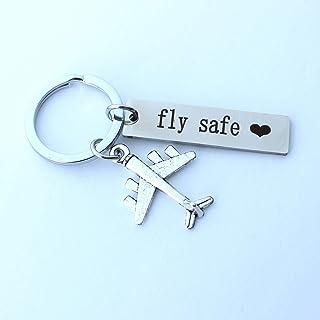 Fly Safe portachiavi, portachiavi assistente di volo, portachiavi da viaggio, portachiavi aereo, regalo pilota, regalo per...