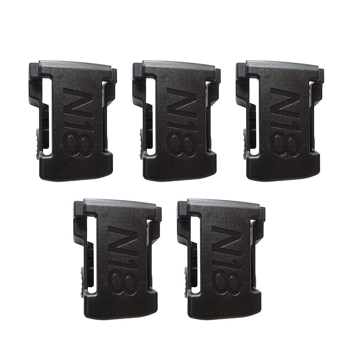 有毒なクッションオーナー5PCS Battery Mounts for M18 48-11-1850 Storage Shelf Rack Stand Holder Slots Hanger Electric Drill Battery Tools Accessories - Black