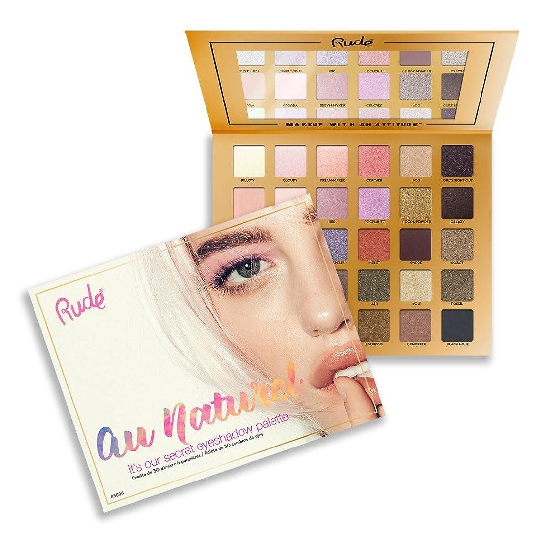 夜鳩軸(6 Pack) RUDE Au Naturel - 30 Eyeshadow Palette (並行輸入品)