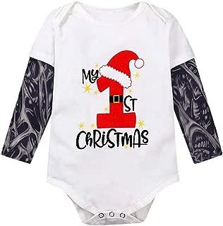 Infant Toddler Baby Boys Girls Cotton Bodysuit Tattoo Print Long Sleeve Romper Jumpsuit